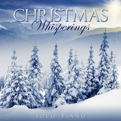 Christmas Whisperings solo piano CD cover